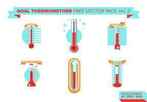 Goal Thermometer Free Vector Pack Vol. 2