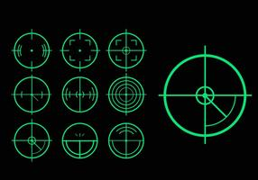 Pacote vetorial de variação de tag de laser alvo verde