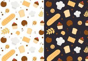 Vector de padrões de padaria grátis