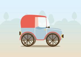 Vector Vintage Car Illustration