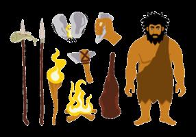 Eiszeit Vektor Icons