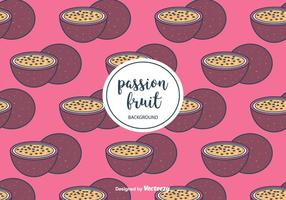 Vector de motif de fruits de la passion