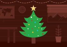 Fondo libre del árbol de navidad del vector