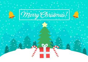 Free Vector Christmas Landscape