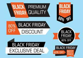 Gratis Svart Friday Banners Vector