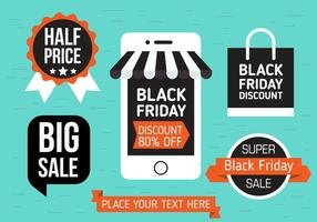 Gratis Svart Friday Vector Shopping