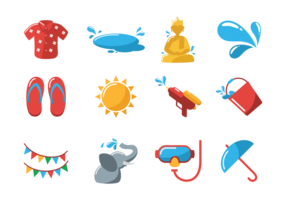 Songkran Vector Icons