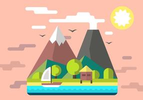 Free Mountain Shack Vector Illustration