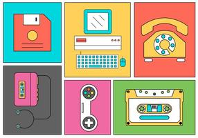 Retro Electronics vector
