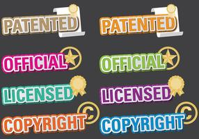 Patented Titles vector