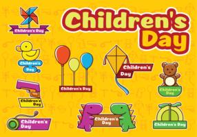 Lyckliga barnsdag vektorer