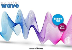Résumé Colorful Pink And Blue Wave - Vector