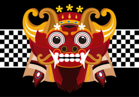 Barong Bali Vektor-Illustration