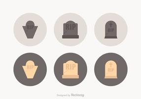 Tombstone Vector Icons