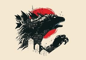 Logotipo del vector de Godzilla