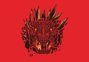 Vecteur logo godzilla
