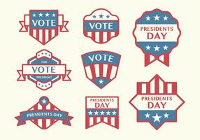 Vectores de la insignia de la elección