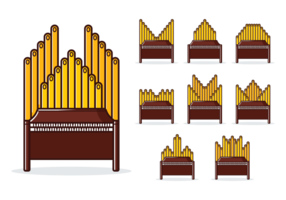 Vector de órgano de tubo