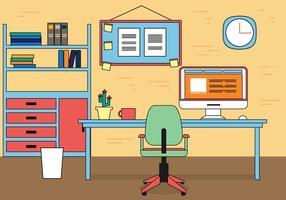 Fri arbetsplats vektor design