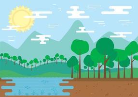 Vecteur paysage naturel gratuit