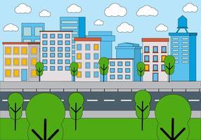 Disegno vettoriale gratuito Cityscape