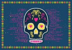 Halloween Sugar Skull Vector Illustration