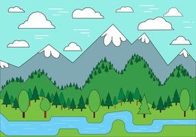 Conception de vecteur de paysage gratuit