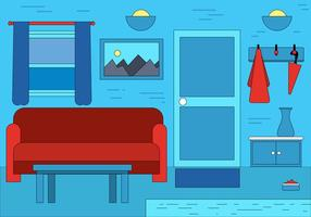 Design de vetor de interiores de sala livre