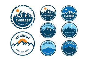 Montaña Everest Badge Vectores