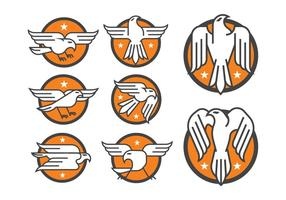 Águia Badge Vectors