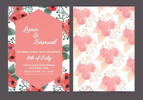 Vector Red Poppy Wedding Invite
