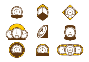 Tachometer Vector Icons