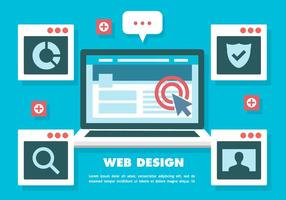Elementos Web Libre Vector Fondo