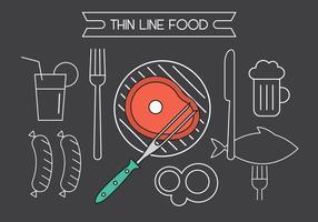 Ícones de comida de vetores grátis