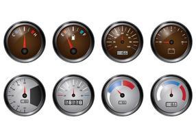 Set von Tachometer-Vektoren