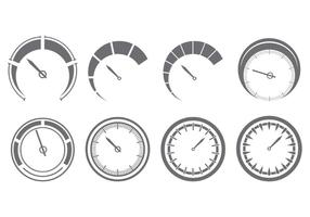 Set Of Tachometer Icons vector