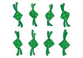 Icônes vectorielles de Ketupat