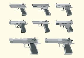 Pistol glock vektorer