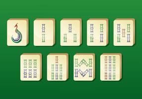 Ícones do vetor Mahjong