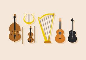 Vector Stringed Musical Instrument