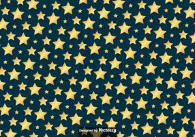 Vector Golden Stars Pattern