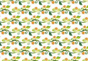 Vector libre acuarela floral de la vid de fondo