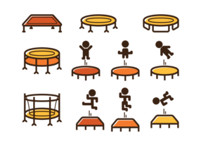 Trampoline pictogram vector