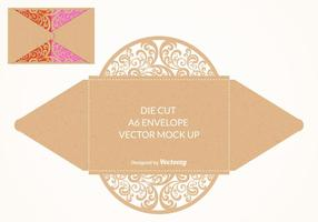 Vector Free Die Cut Envelope Mock Up