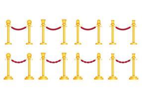 Vectores de cuerda de terciopelo