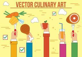 Vector de arte culinária grátis