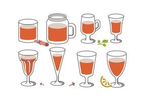 Sangria trinken Vektoren