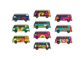 Pack Vector Free Hippie Bus