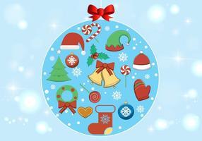 Elementos livres do Natal do vetor