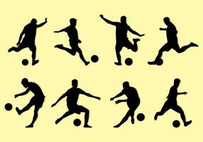Silhouette Of Kickball Players